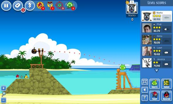 game Angry Birds Friends facebook