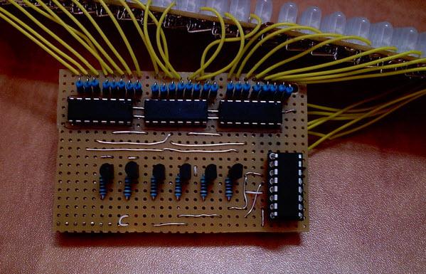 mạch đèn led ma trận 24x6