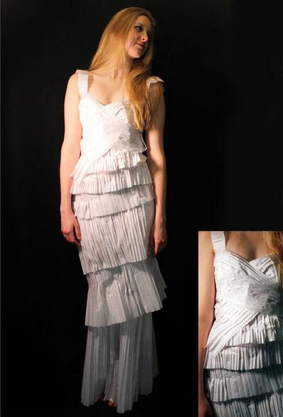 làm trang phục từ giấy
