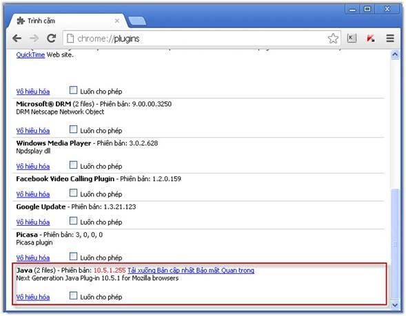 trình duyệt Google Chrome 33