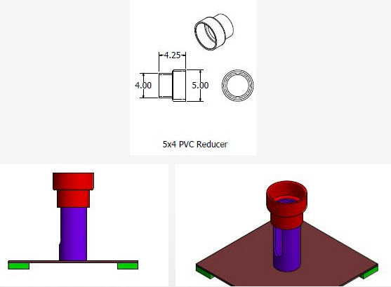ống nhựa PVC và gắn các vòng đệm