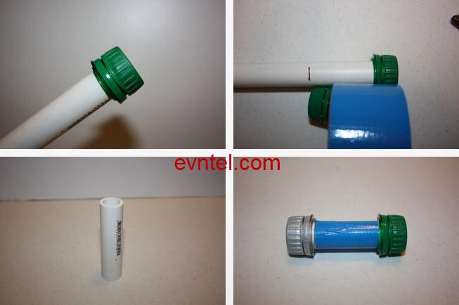 gắn ống nhựa