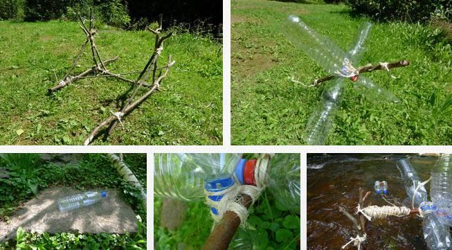 Tự làm bánh xe nước từ chai nhựa