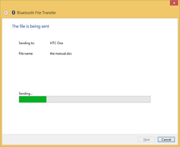 Chuyển file qua bluetooth trong Windows 8.1