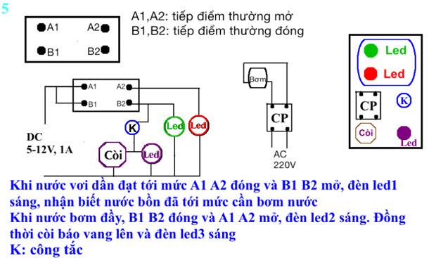 mạch máy bơm nước tự động