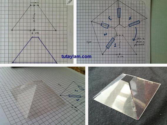 hình kim tự tháp chiếu 3d
