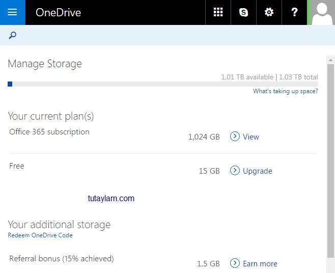 sở hữu 1TB Onedrive và microsoft 365 miễn phí
