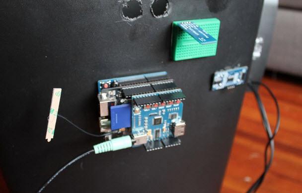 thùng rác thông minh mạng wifi