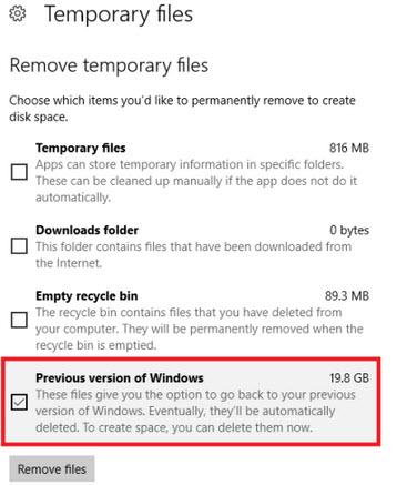 phiên bản cũ của Windows