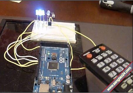 Điều khiển đèn LED bằng bộ nhận sóng Arduino IR Remote
