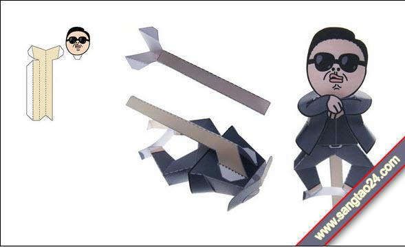 Làm PSY bằng giấy nhảy điệu Gangnam Style