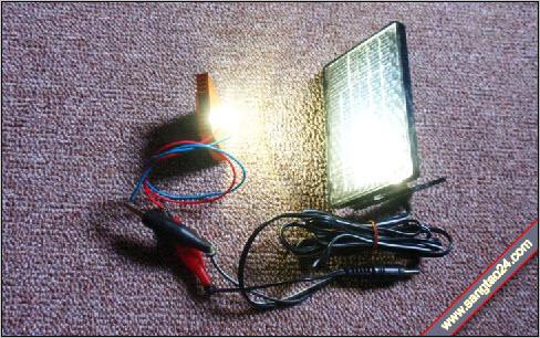 Máy phát điện hoạt động bằng ánh sáng của đèn LED