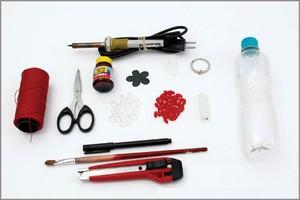 vỏ chai nhựa cũ để làm móc chìa khóa