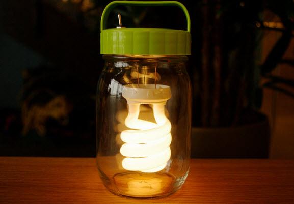 lồng đèn từ bóng đèn huỳnh quang nén CFL