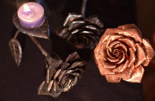 làm hoa hồng bằng đồng đơn giản