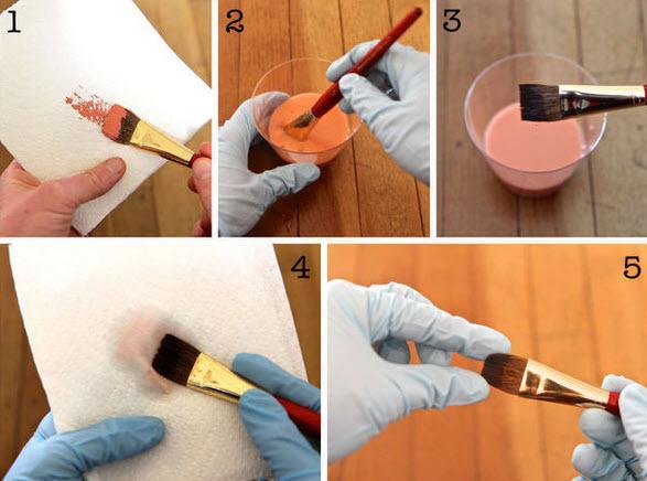 làm sạch cây cọ sơn