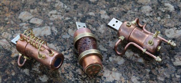 vỏ USB bằng đồng theo phong cách khẩu pháo