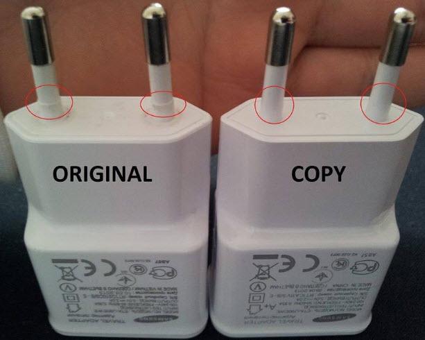 Cách phân biệt củ sạc Samsung chính hãng và hàng giả