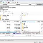 tập tin mã nguồn và phần mềm FileZilla