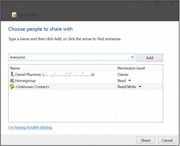 tài nguyên giữa Windows 10 và Android