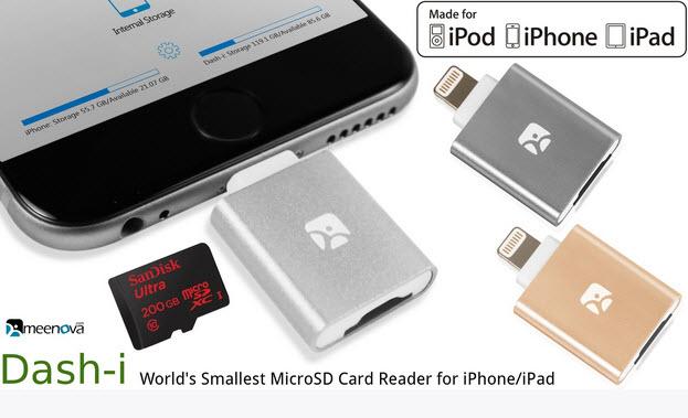 thiết bị iOS, dung lượng, thẻ nhớ