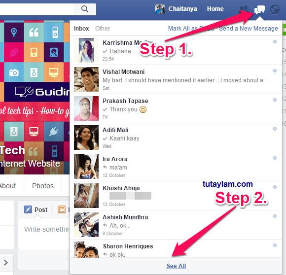 hình ảnh chia sẻ qua tin nhắn Facebook Messenger