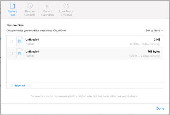 Khôi phục tập tin, danh bạ, lịch và hình bị xóa trên iCloud