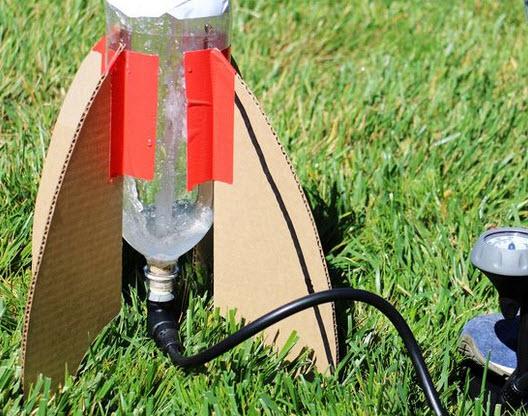 làm mô hình tên lửa khí nén với chai nhựa