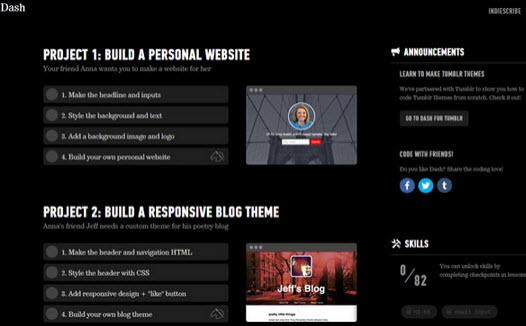 website giúp làm quen và nâng cao kỹ năng lập trình