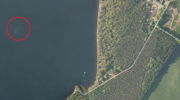 quái vật hồ Loch Ness trên bản đồ Apple Maps