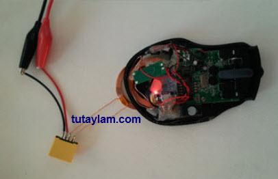 làm sạc không dây cho chuột wireless