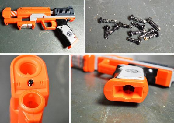 chế máy bắn nước từ súng đồ chơi