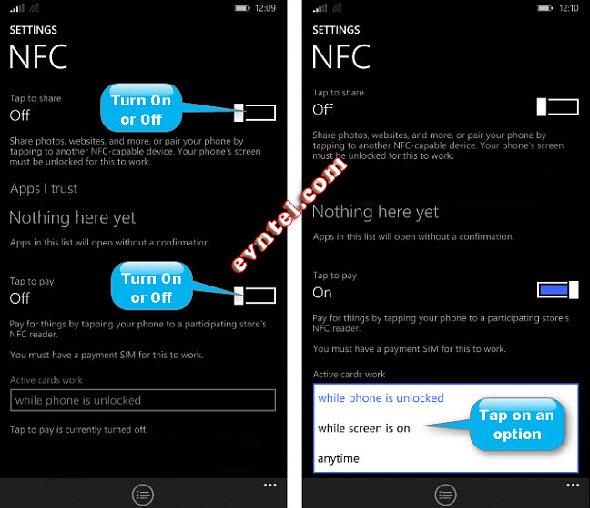 mở Bluetooth, NFC trên Windows Phone 8 và 8.1
