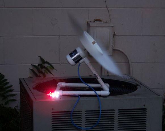làm tuabin gió hoạt động nhờ máy điều hòa