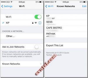xem lại mật khẩu Wi-Fi