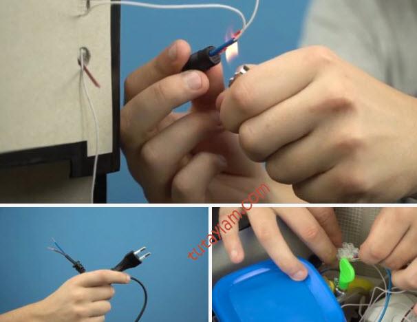 Kết nối các dây dẫn điện và làm bệ đứng