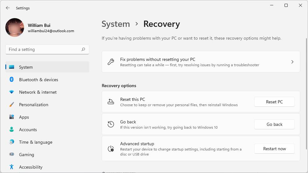 hạ cấp Windows 11 xuống Windows 10